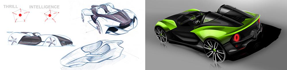 Drive Design initial Zenos E10 sketches