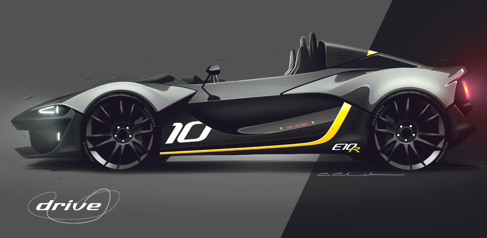Zenos Cars Drive Edition E10R - Design Sketch 1