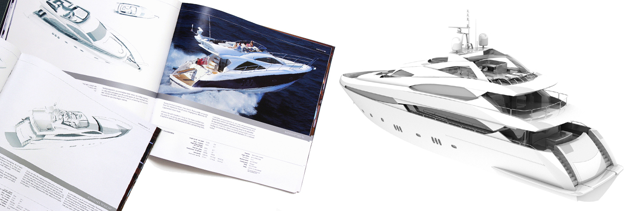 Super yacht animations and CG images for brokers and naval architects