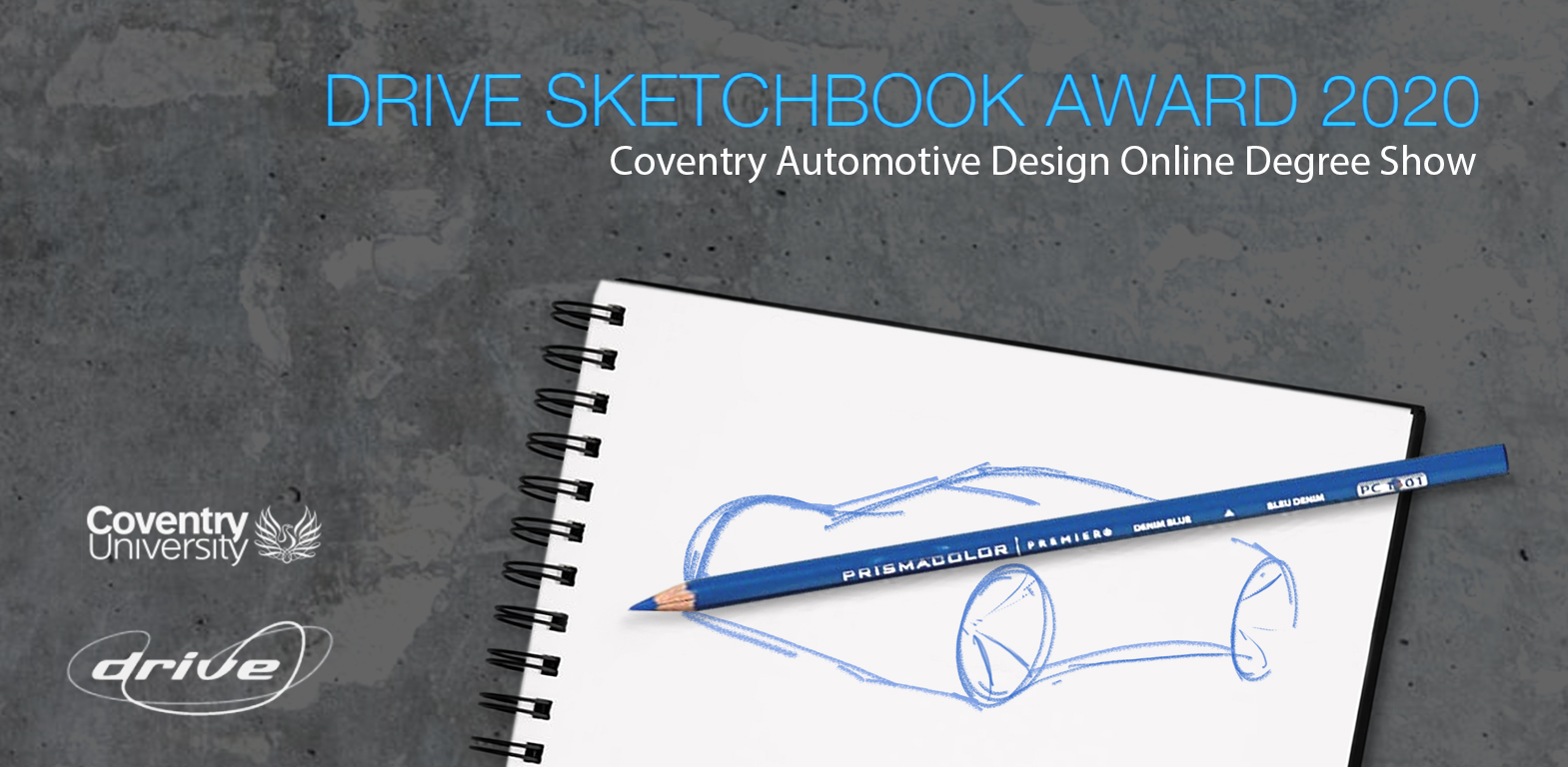 Coventry Automotive Degree Show 2020 Drive Sketchbook Award