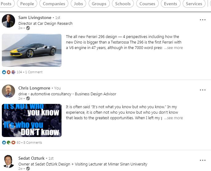 LinkedIn Automotive Designer